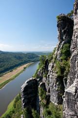 Bastei-Aussicht auf Elbe