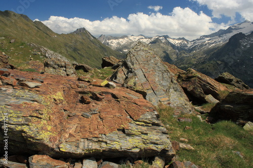 rocky terrain above Benasque Valley in Posets-Maladeta