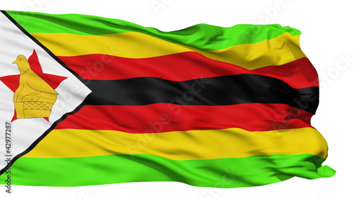 Waving national flag of Zimbabwe