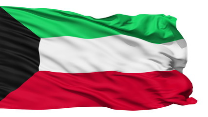 Waving national flag of Kuwait