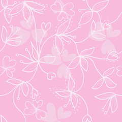 seamless pink flower background