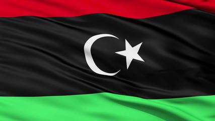 Waving national flag of Libiya