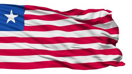 Waving national flag of Liberia