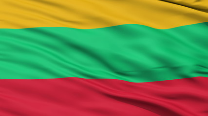Waving national flag of Lithuania
