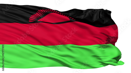 Waving national flag of Malawi