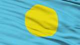 Waving national flag of Palau