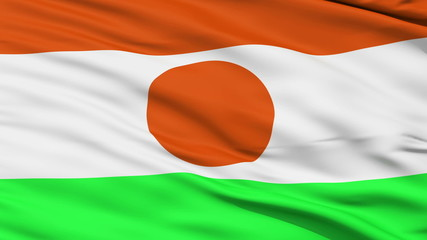 Waving national flag of Niger