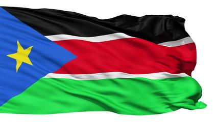 Waving national flag of South Sudan