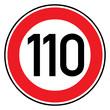 Verkehrsschild - 274 Höchstgeschwindigkeit (110)