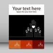 Simple line illustration of hands leaflet design.
