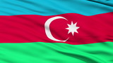 Waving national flag of Azerbaijan