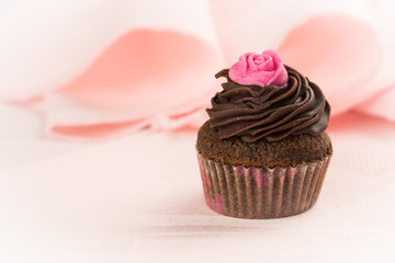 Vintage Cupcake with rose