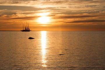 Tallship in the sea