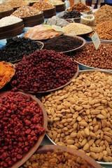 Dried fruits in the bazaar