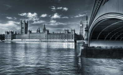 Monochrome Westminster across the river