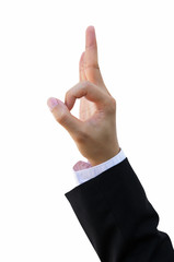 Business Man Hand and OK Sign Action