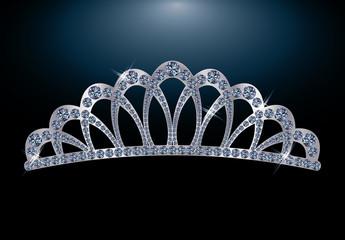 Silver diamond diadem for princess