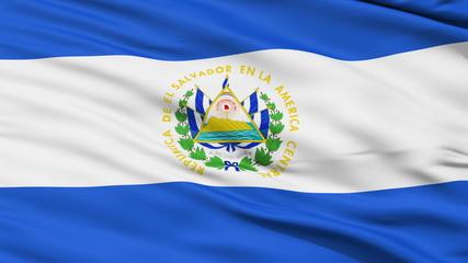 Waving national flag of El Salvador