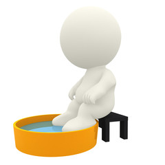 3D character relaxing