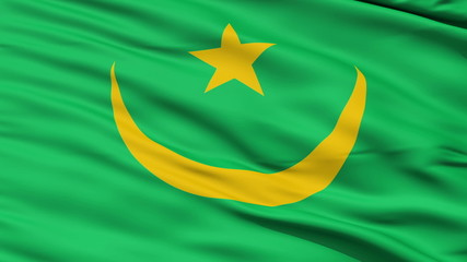 Waving national flag of Mauritania