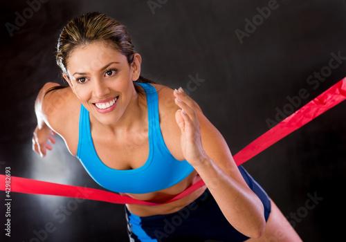 Winner athlete
