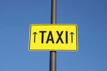taxi, hinweisschild auf oktoberfest