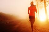 Sunrise running woman - Fine Art prints