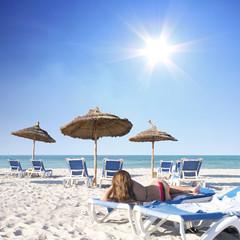 Sonnenbaden im Urlaub