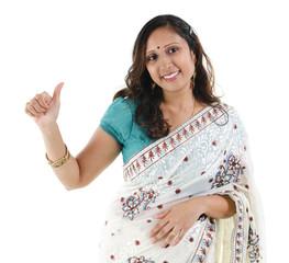 Thumb up Indian woman