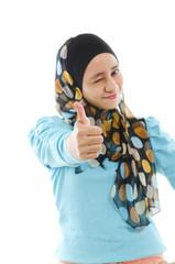 Thumb up Muslim woman