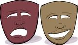 African Drama Masks poster