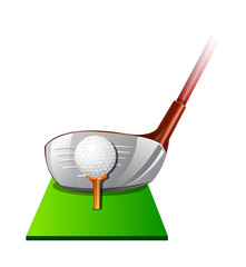 vector icon golf
