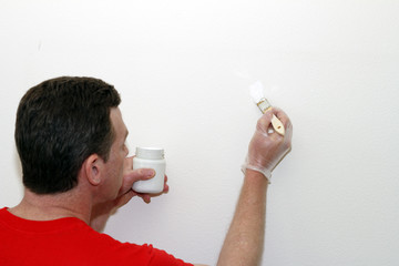 Man Painting Touch-up Paint