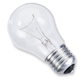 Edison screw light bulb isolated on white with clipping path