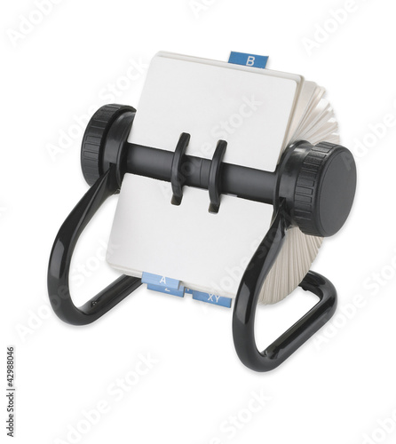rolodex rotary card address desk organiser