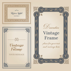 Vintage frames and design elements - with place for your text -