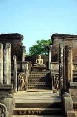 Vatadage,Buddhist temple ruins in Polonnaruwa,Sri Lanka