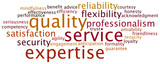 Tag Cloud Quality Service Expertise