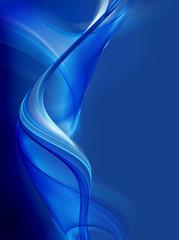 Elegant blue fractal background