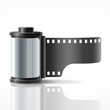 Camera film roll silver, vector illustration