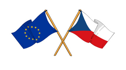 European Union and Czech Republic alliance and friendship