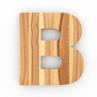 3d Font Wood Ash Letter B