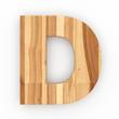 3d Font Wood Ash Letter D