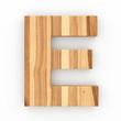 3d Font Wood Ash Letter E