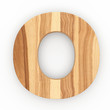 3d Font Wood Ash Letter O