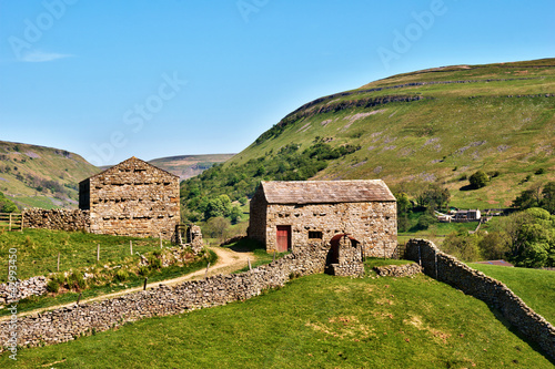 Quaint old stone barns