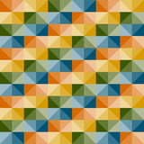 vector seamless geometric pattern with 3d illusion - 42993832