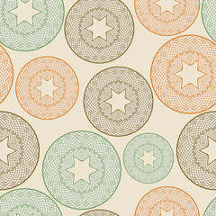 vector seamless pattern with lacy balls