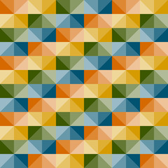 vector seamless geometric pattern with 3d illusion
