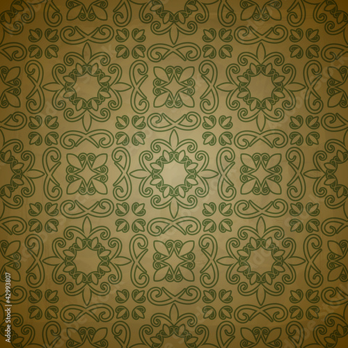vector seamless pattern on grungy background with crumpled paper